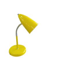 Luminária de mesa flexível cone amarelo