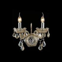 Arandela Cristal Conhaque 02 lâmpadas