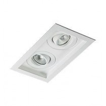 Luminária de embutir no teto 2 lampadas Dicróica 1213/2