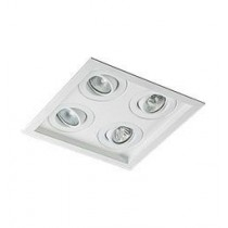 Luminária de embutir no teto 4 lampadas Dicróica 1213/2X2