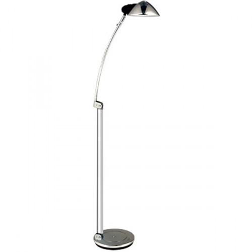 luminária de piso com haste retrátil que vai de 1,20 metros a 1,60 metros