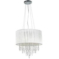 Lustre de cristal cinza 04 lampadas
