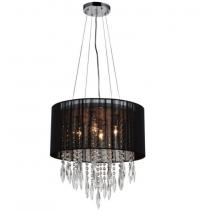 Lustre de cristal preto 04 lampadas