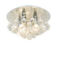 Plafon de cristal transparente 05 lampadas