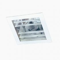 Luminária Embutir refletor em alumínio alto brilho e vidro temperado