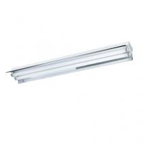 Luminária 2X32 com abas refletoras em alumínio de alto brilho