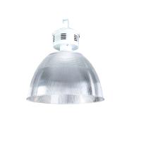 """Luminária com alojamento em alumínio e refletor em acrílico prismático 22"""""""