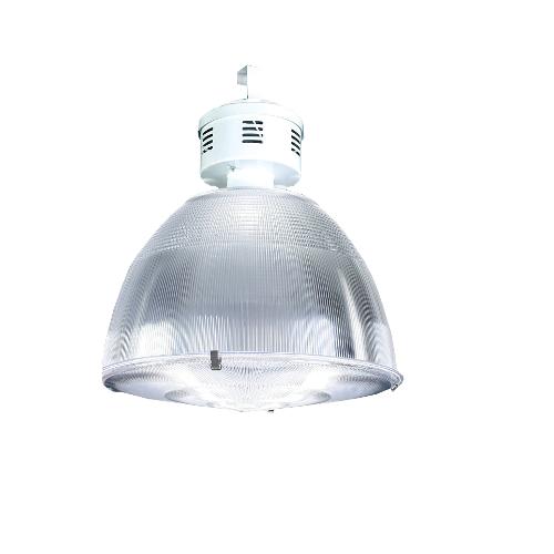 Luminária com alojamento em alumínio e refletor e difusor em acrílico prismático