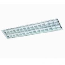 Luminária Embutir refletor em alumínio e aletas planas branca