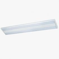 Luminária Sobrepor com difusor em acrílico e refil em alumínio alto brilho