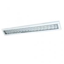 Luminária Sobrepor com refletor e aletas em alumínio de alto brilho