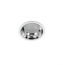 Luminária Embutir refletor alumínio alto brilho e vidro recuado